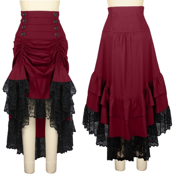Plus Size Gothic Clothing Steampunk Skirt Ruffle 8ee911bdbd8